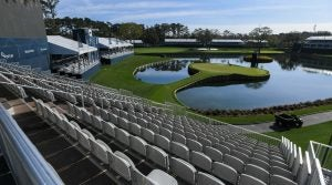 empty grandstand at tpc sawgrass