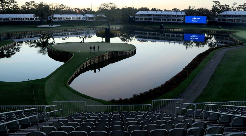 There will be no professional golf played for at least a month.