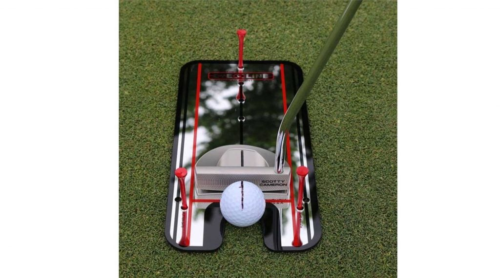 Check your putter face and shoulder alignment easily with this putting aid.