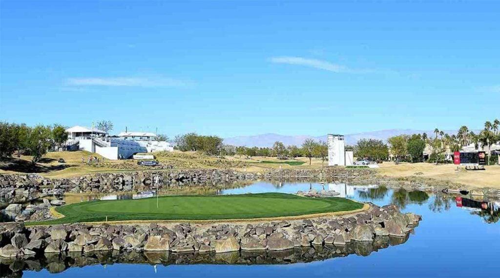 The 17th at PGA West in La Quinta, Calif.