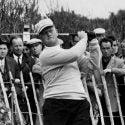 Jack Nicklaus hitting golf drive