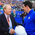 Jack Nicklaus Rory McIlroy shake hands