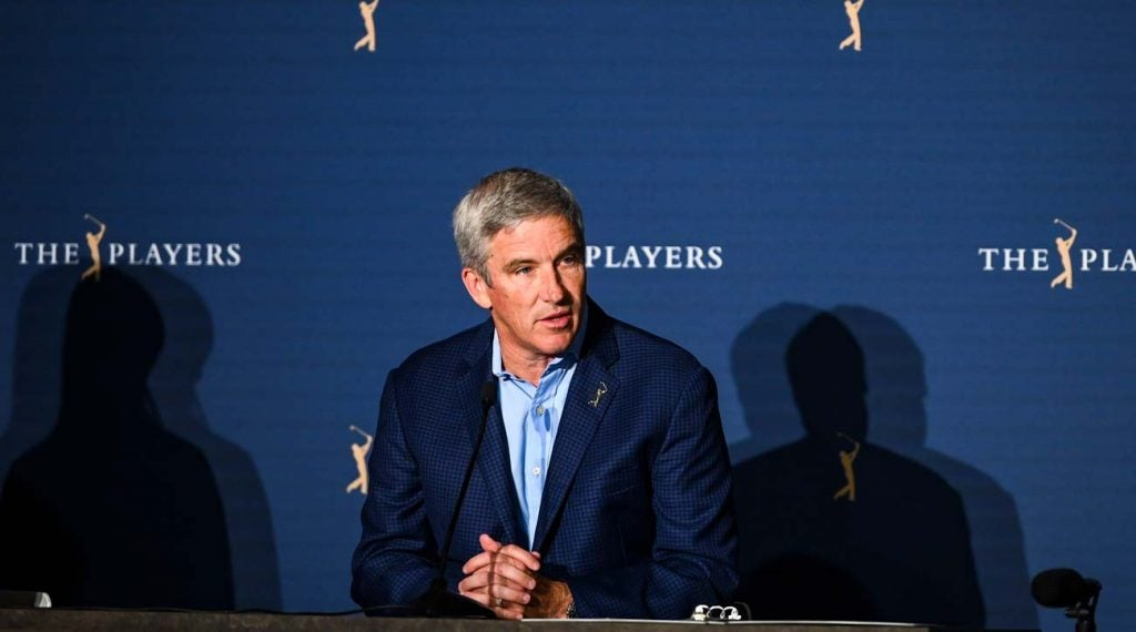 The PGA Tour was put on pause by Jay Monahan Thursday night.