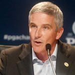 Jay Monahan speaks at podium