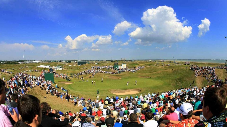 6th hole green royal st george's