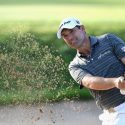 padraig harrington hits bunker shot