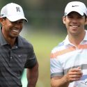 tiger woods and paul casey laugh