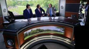 The cbs golf studio