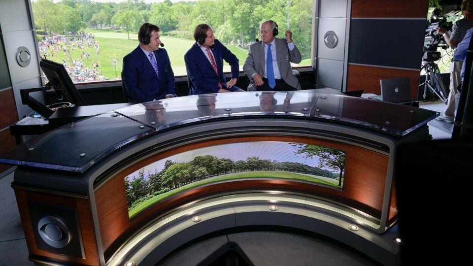 The cbs golf studio