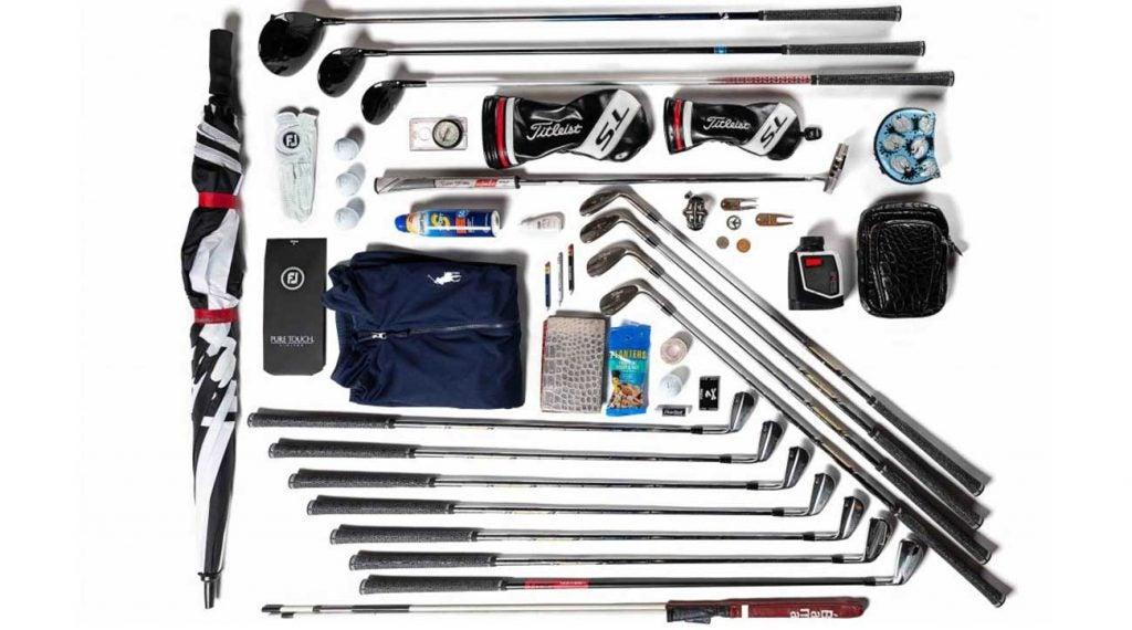 Justin Thomas' golf bag.