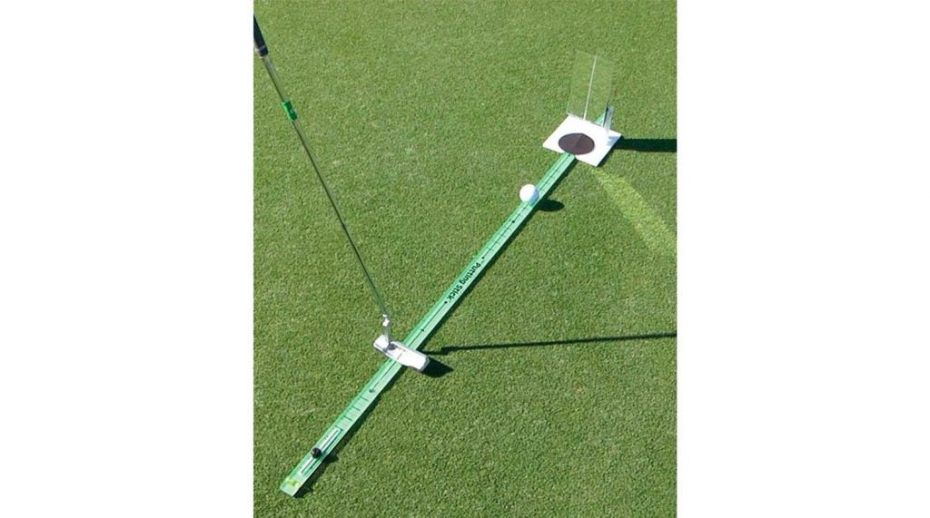 Check your backswing length and alignment with the Putting Stick.