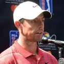 rory mcilroy at the microphone
