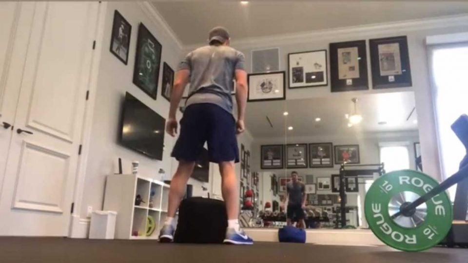 Rory McIlroy workout home
