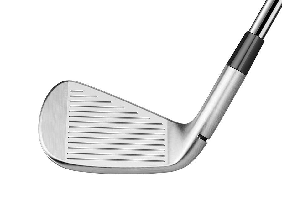The face of the TaylorMade P790 Ti iron.