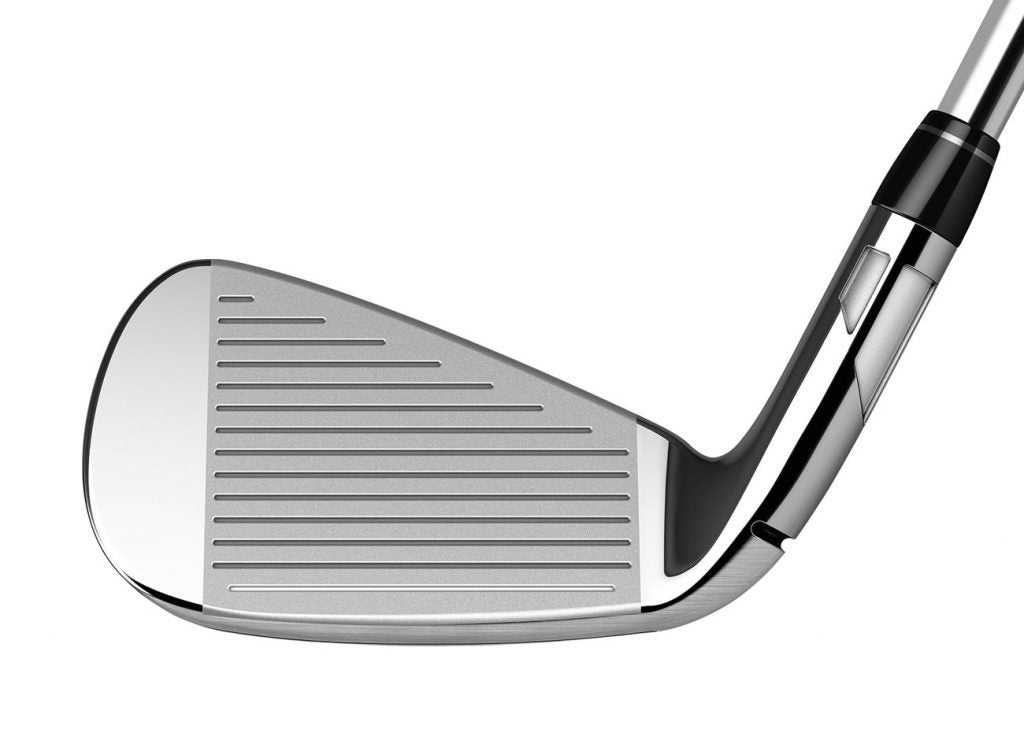 The face of the The TaylorMade SIM Max iron.