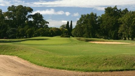 The 10th hole at The Jockey Club in Argentina.