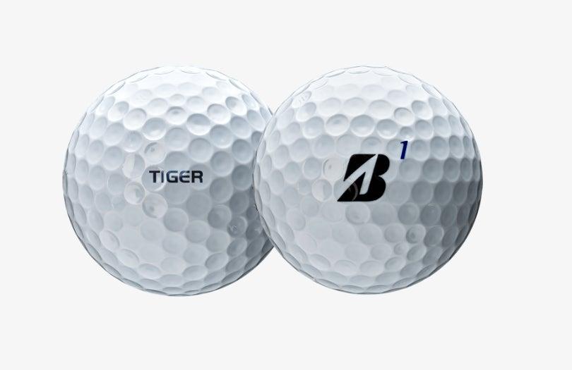 A look at the new Bridgestone Tour B XS Tiger Woods Edition golf ball.