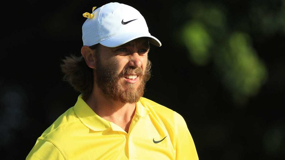 Tommy Fleetwood looks on during the final round of the Honda Classic.