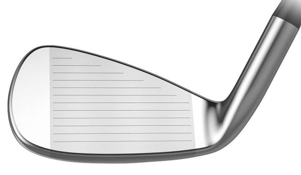 The face of the Tour Edge Hot Launch 4 iron.