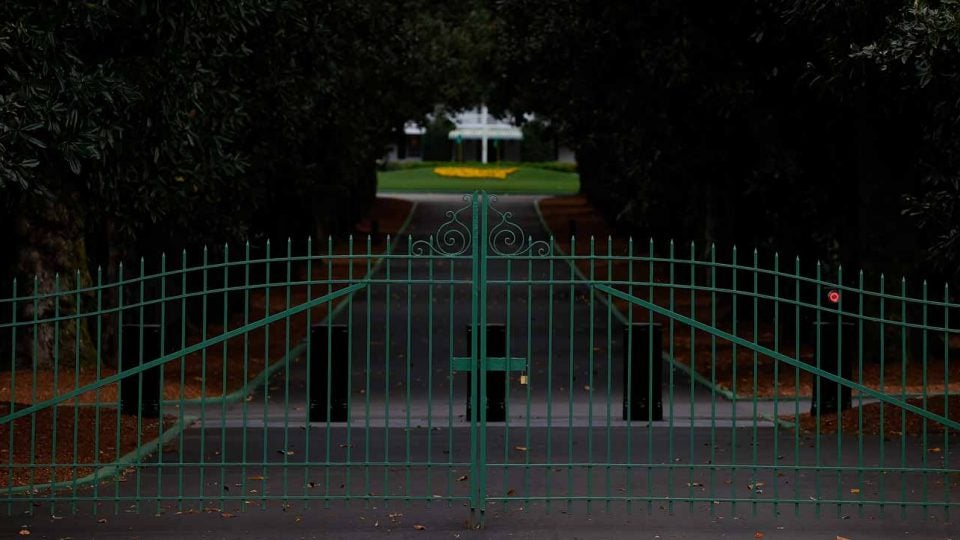 augusta national closed 2020 masters