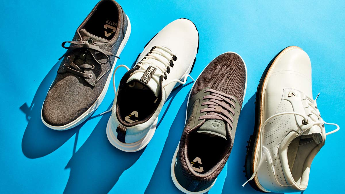 The newest golf shoes from Cuater by TravisMathew, from left: The Wildcard, The Ringer, The Moneymaker and The Legend.