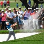 Jordan Spieth hits from a bunker during last year's Charles Schwab Challenge, which will host the Tour's first tournament after its hiatus.