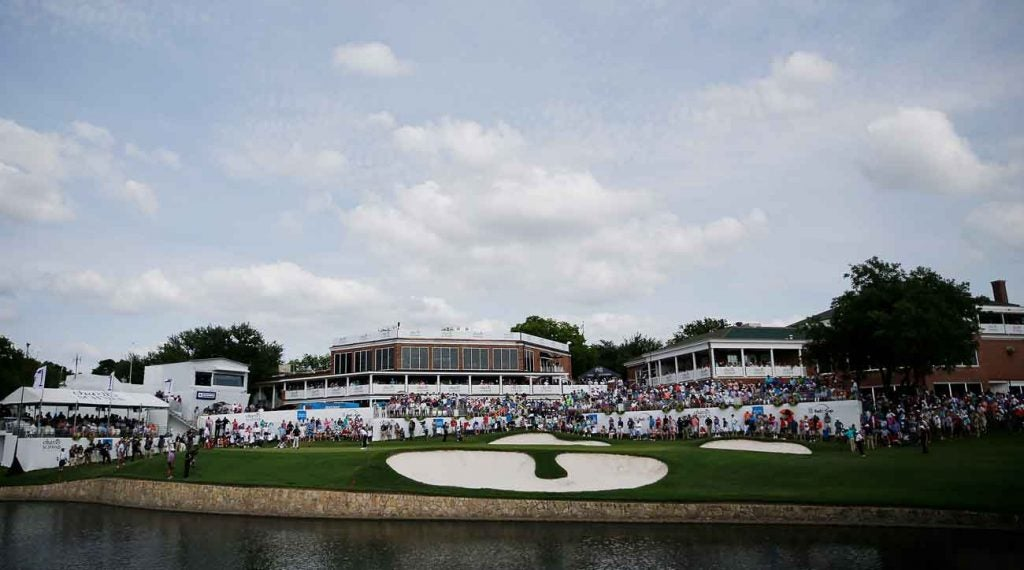The 18th green during last year's tournament.