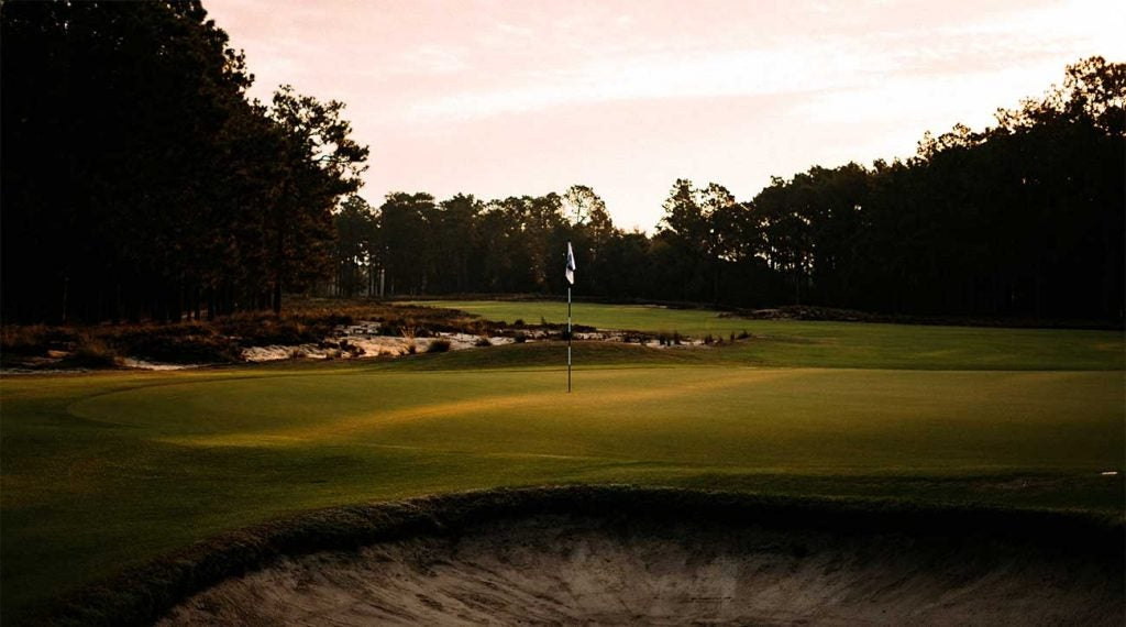 A green at Pinehurst No. 2.