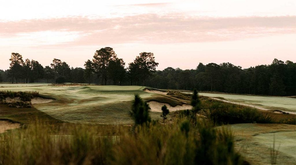 The 6th hole at Pinehurst No. 4.