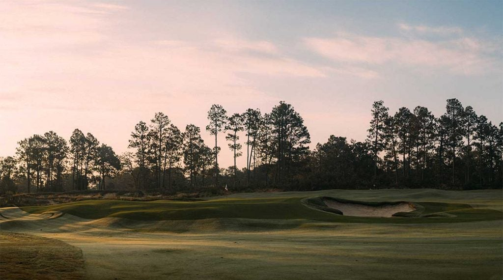 The 2nd hole at Pinehurst No. 4.