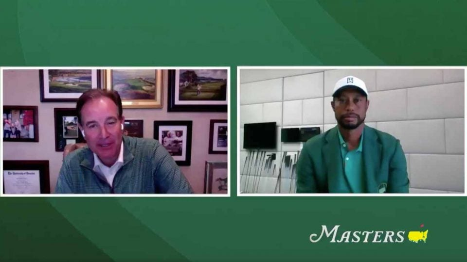 tiger woods jim nantz