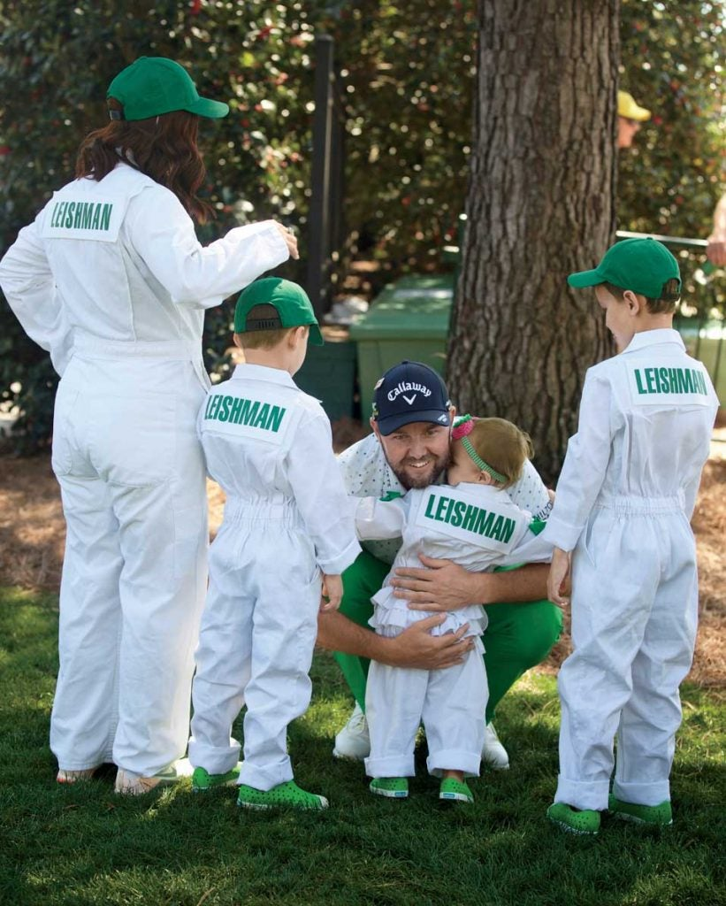 The Leishman family runs four-caddies deep on Masters Wednesday.