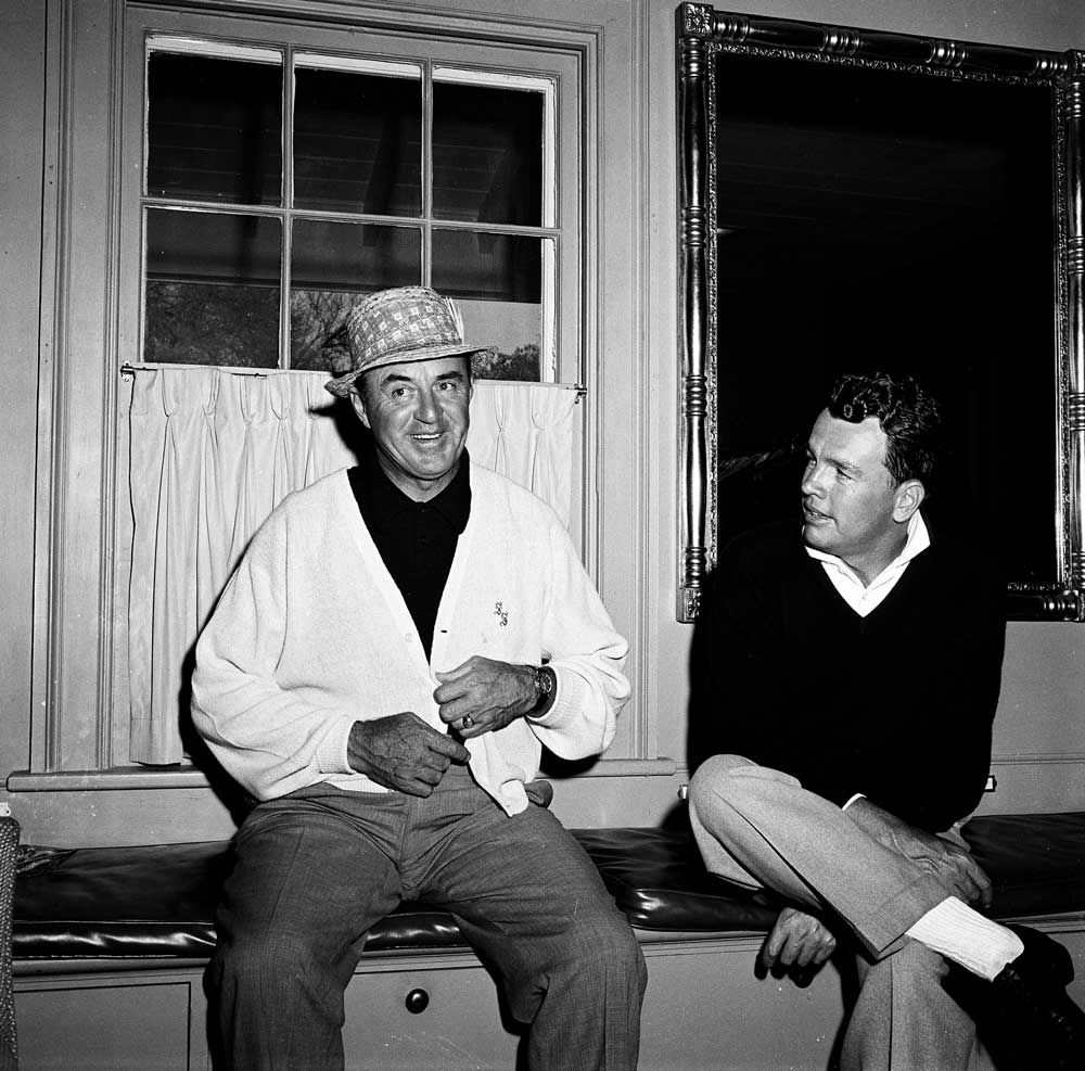 Sam Snead and Jack Burke Jr. at the 1960 Masters.