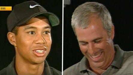 Tiger Woods and Curtis Strange sat down for an interview before his pro debut at the 1996 Greater Milwaukee Open.