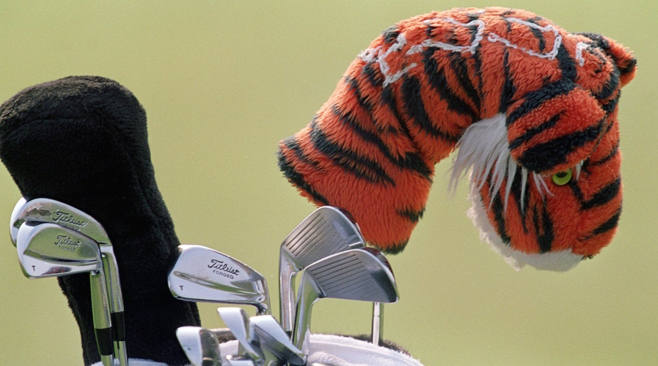 Tiger Woods' golf bag.