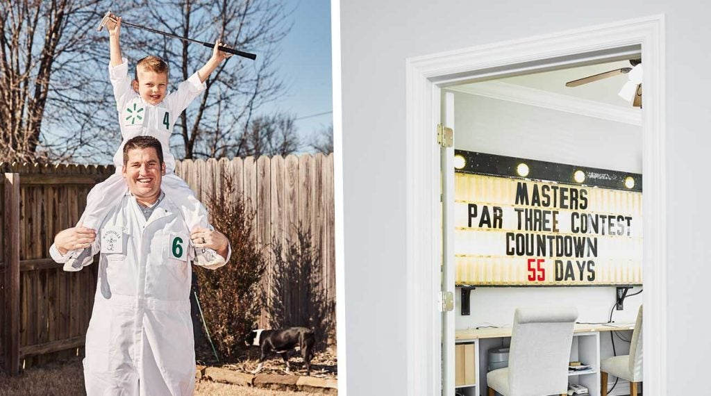 Justin and Gideon Pillmore both know that Masters week is a big one for the family uniform business.