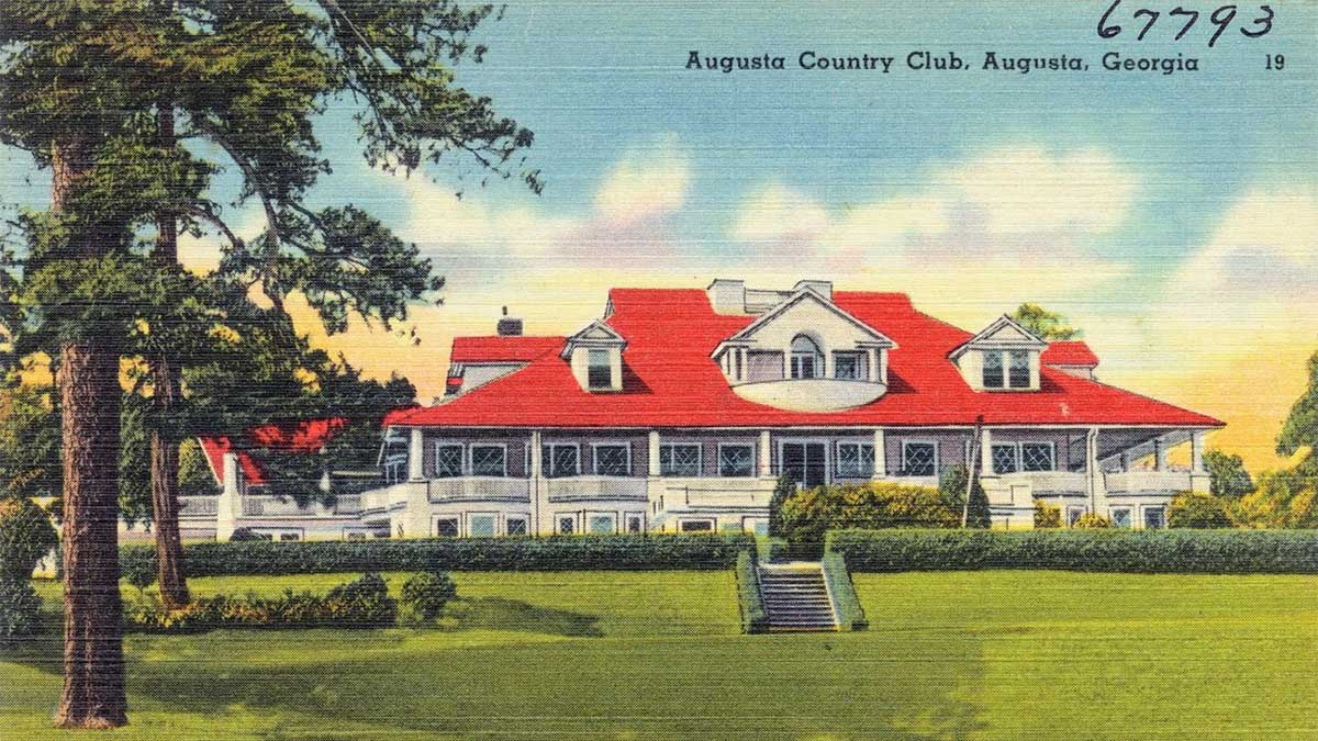 A postcard of Augusta Country Club.