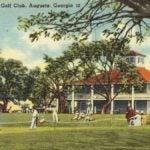 A postcard of Augusta National Golf Club.