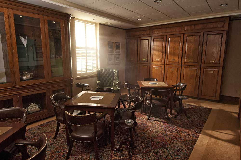 The Champions Locker Room at Augusta National photographed in 2006.