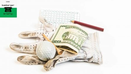 scorecard with money