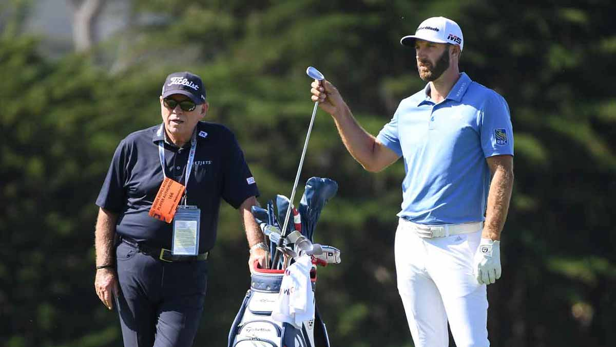 Butch Harmon and Dustin Johnson