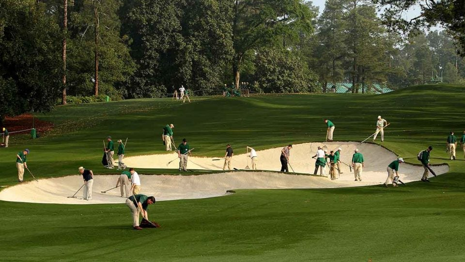 course maintenance workers in bunker