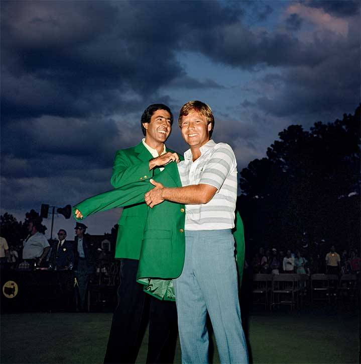 The scene after Ben Crenshaw's first Masters victory in 1984.