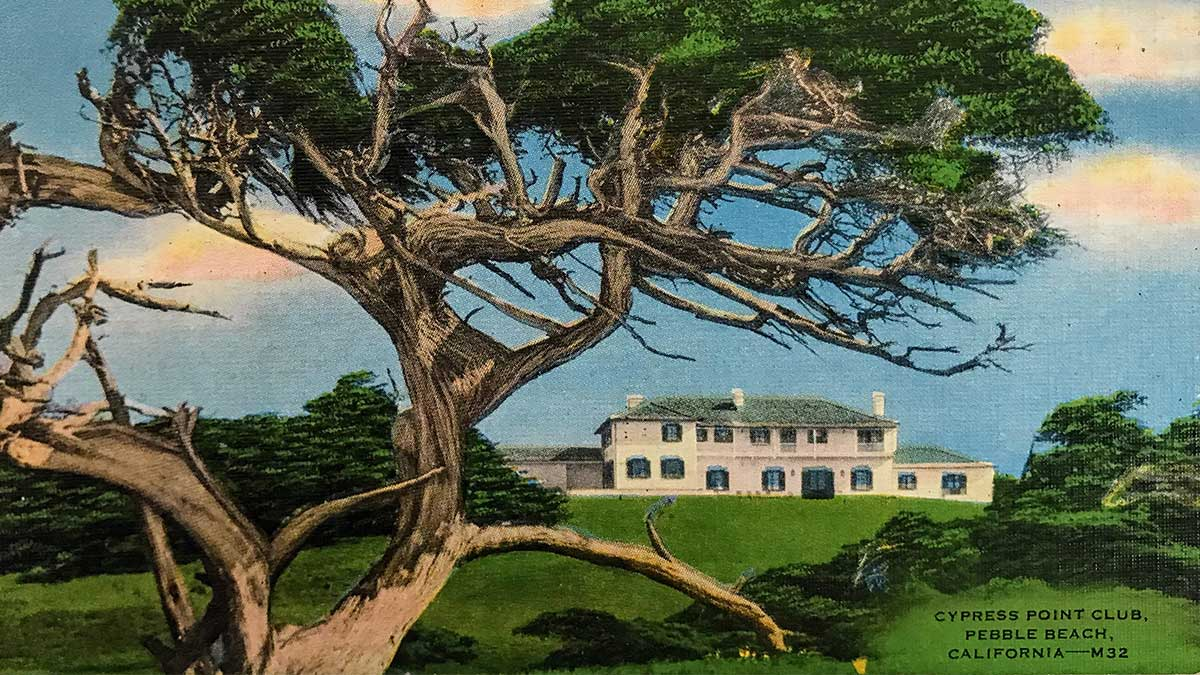 A postcard of Cypress Point.