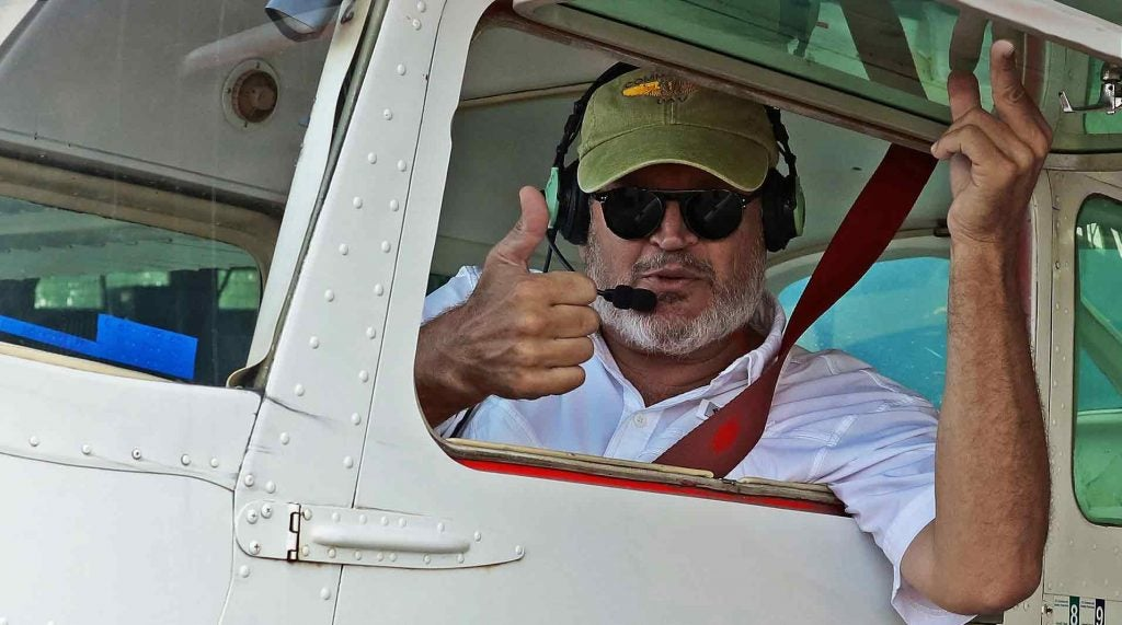 David Dobbins, ready for takeoff.