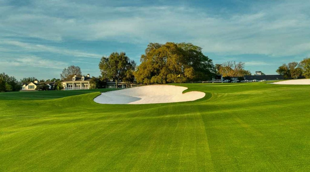 A pitch shot to the 18th. Who will be walking here with the lead on Sunday, Nov. 15?