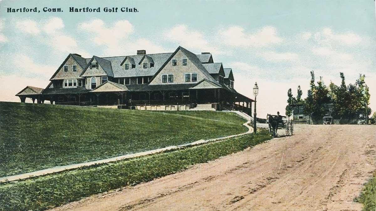 A postcard of Hartford Country Club.