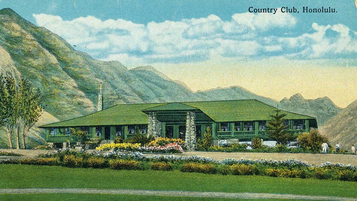 A postcard of Honolulu Country Club.