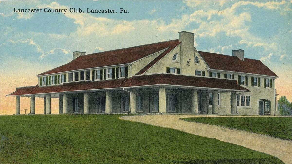 A postcard of Lancaster Country Club.