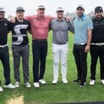 Wes Patterson, in gray shirt, with some of his fellow competitors at the opening event in the Global Infinity Series last year. The tournament promised a record $400,000 purse.
